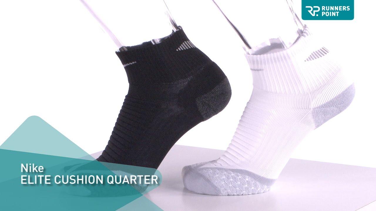 Laufsocken Nike Elite Running Cushion Quarter Socken Dri