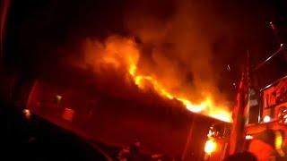 Truck 50 Ride Along Assisting 59 Working Fire *Helmet Cam*