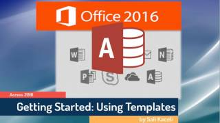 This is part 1 of 2 of the Microsoft Access 2016 tutorial. The tuto...