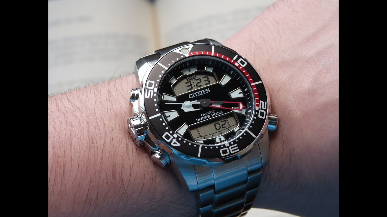 b3ccaaef370 Relógio Citizen Aqualand ProMaster JP1090-86E TZ10164T Anadigi Diver ...