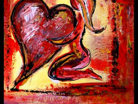 Heart Painting Abstract Acrylic Art How To Paint Flames