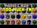 Minecraft TOO MUCH TNT MOD! | 50+ NEW TNT, METEORS, NUKES, & MORE! | Modded Mini-Game