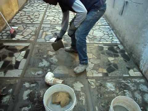 Modelo de mosaico cacos de granito youtube for Modelos de pisos de granito