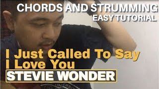 I Just Called To Say I Love You - Stevie Wonder | Easy Guitar Chords Tutorial
