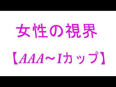 【お〇ぱいフェチ必見】AAAカップ~Iカップの視界