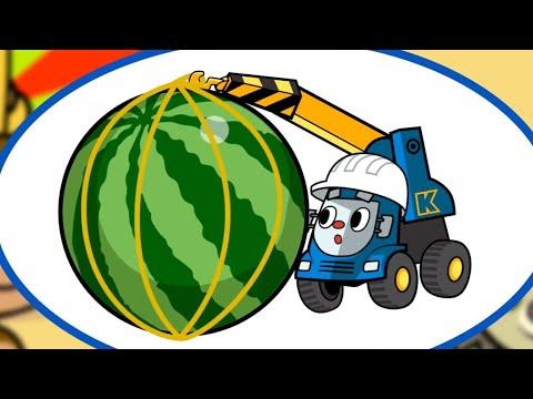 Видео: Теремок песенки - Трейни - Подъемный кран - Новые песенки про машинки и транспорт
