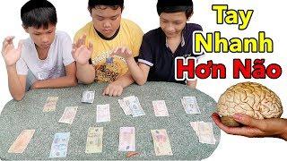 Lâm Vlog - Trò Chơi Thử Thách Tay Nhanh Hơn Não Phiên Bản Tiền Thật | Ai Thua Ăn Ớt