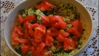Tabouli Tabbouleh Gluten Free Mediterranean Salad  Quinoa Parsley Lemon Tomato Recipe