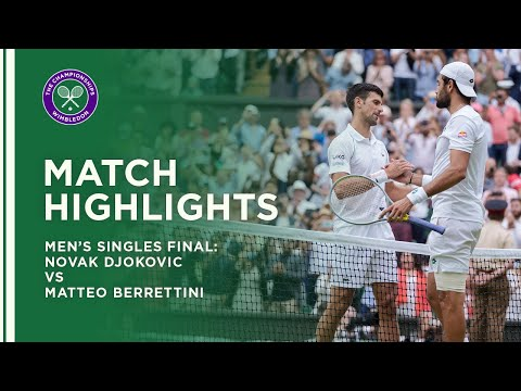 Novak Djokovic vs Matteo Berrettini | Men's Final Highlights | Wimbledon 2021