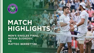 Novak Djokovic vs Matteo Berrettini | Men's Final Highlights