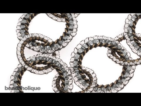 How To Bead Weave Circular Brick Stitch Around A Ring