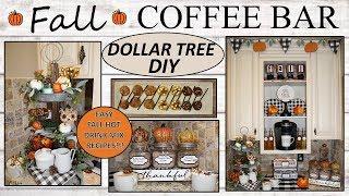 FALL COFFEE BAR (2019) | Dollar Tree DIY | FARMHOUSE Decor| Fall Drink Recipes
