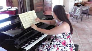 Johannes Brahms. 51 Exercices. 51 Ubungen fur Klavier. Debut d'apprentissage. Cours2. Exercice N°7