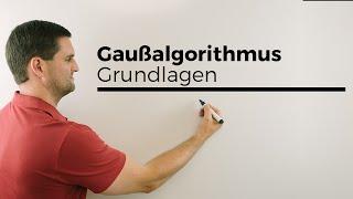 Gaussalgorithmus, Vorübung, Grundlagen, Gleichungssysteme lösen, Mathe by Daniel Jung