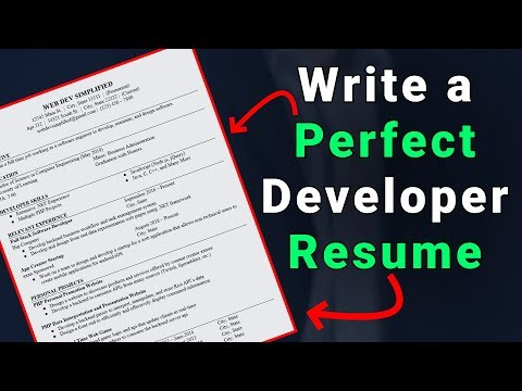 How To Write The Perfect Developer Resume