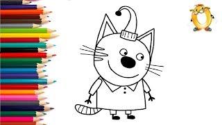 Раскраска для детей ГЕРОИ МУЛЬТИКОВ: ТРИ КОТА.