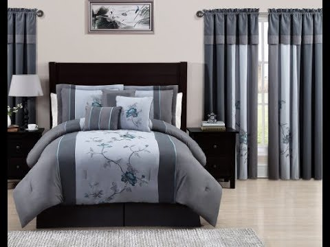 Comforter Sets With Matching Curtains - YouTube