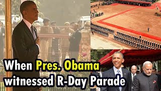 PM Narendra Modi with US President Barack Obama on Ceremonial Function at Rashtrapati Bhawan