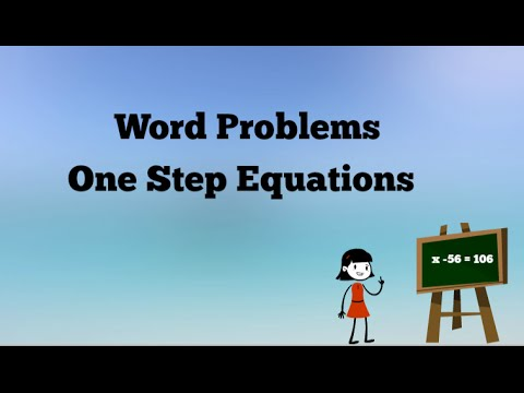One Step Equation Word Problems - YouTube