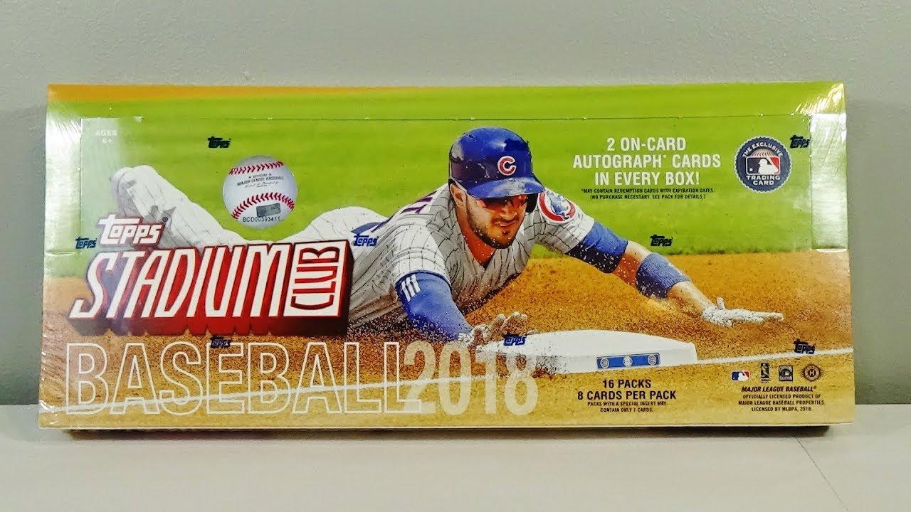 2018 Topps Stadium Club Baseball Hobby Box Break