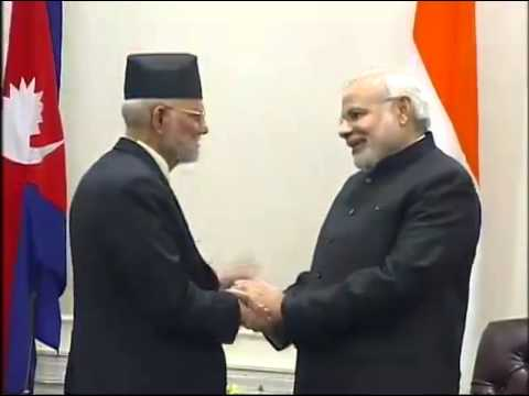 Nepal PM, Sushil Koirala meets PM Modi in New York