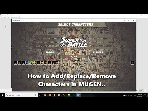 How to Add/ Replace/ Remove Characters in MUGEN? Anime Super Battle Stars