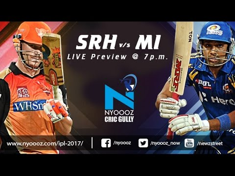 Live IPL T20 Mumbai Indians Vs Sunrisers Hyderabad match preview only on CricGully