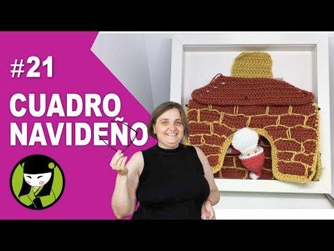 chimenea amigurumi 21 forma parte del cuadro navideño a crochet
