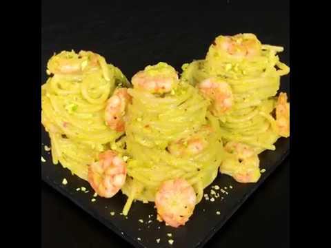 Spaghetti Con Pesto Di Pistacchi Gamberetti E Limone Ricetta