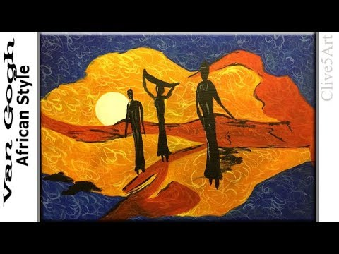 Van Gogh African Style painting Acrylic painting