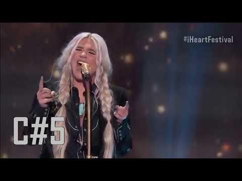 "Kesha Slaying The High Notes In ""Praying"" Live (C#5 - E5)"