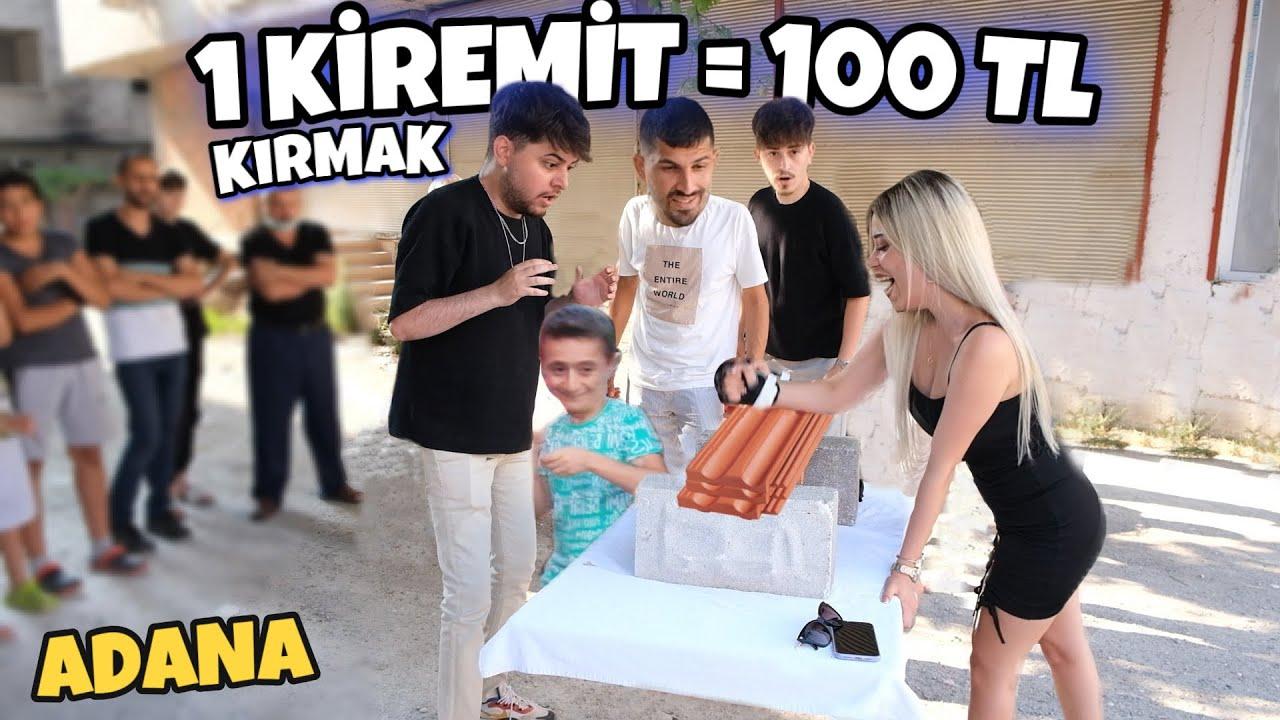 ADANA'DA SOKAKTA PARA DAĞITMAK ! (1 KİREMİT = 100 TL) @Sefa Kındır @Emre Gül