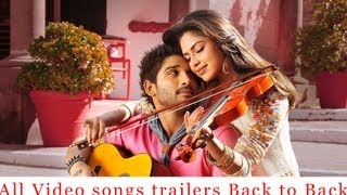 Iddarammayilatho All Video Songs trailers back to back - Allu Arjun, Amala Paul, Catherine Tresa