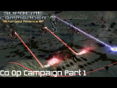Supreme Commander FAF Forged Alliance Co Op Campaign Part 1