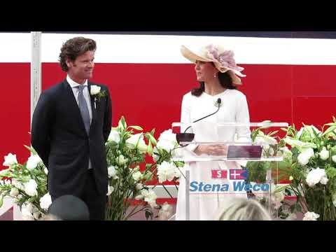 Kronprinsesse Mary døbte skib ved Langelinie