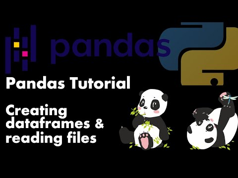 Python For Data Science - PANDAS  - Creating Data Frames And Reading Files - Tutorial #1