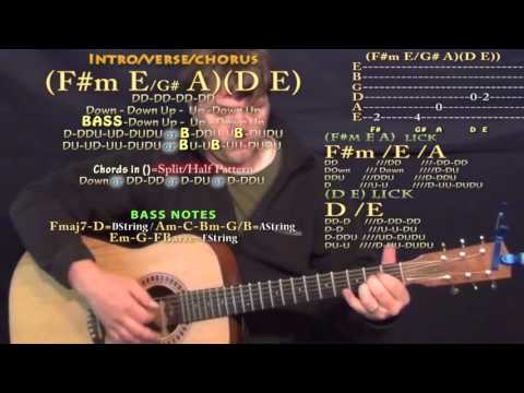Moolah (Young Greatness) Guitar Lesson Chord Chart - F#m E A D E