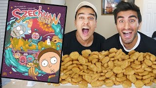 100 Chicken Nugget Challenge WITH SZECHUAN SAUCE FROM RICK AND MORTY!