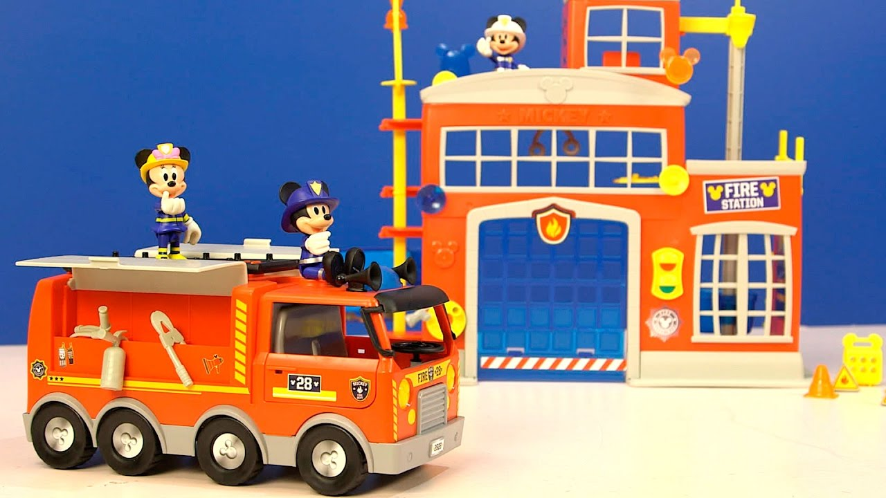 Mickey Mouse  Parque de bomberos y camin de bomberos  YouTube
