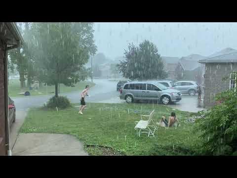 اقوى عاصفه مطريه شاهدتها في كندا مدينه ويندسور أونتاريو