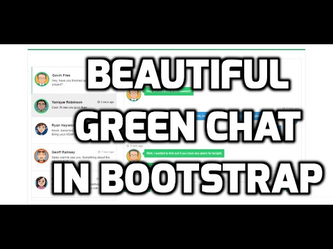 Beautiful Green Chat Room Using Bootstrap With Code
