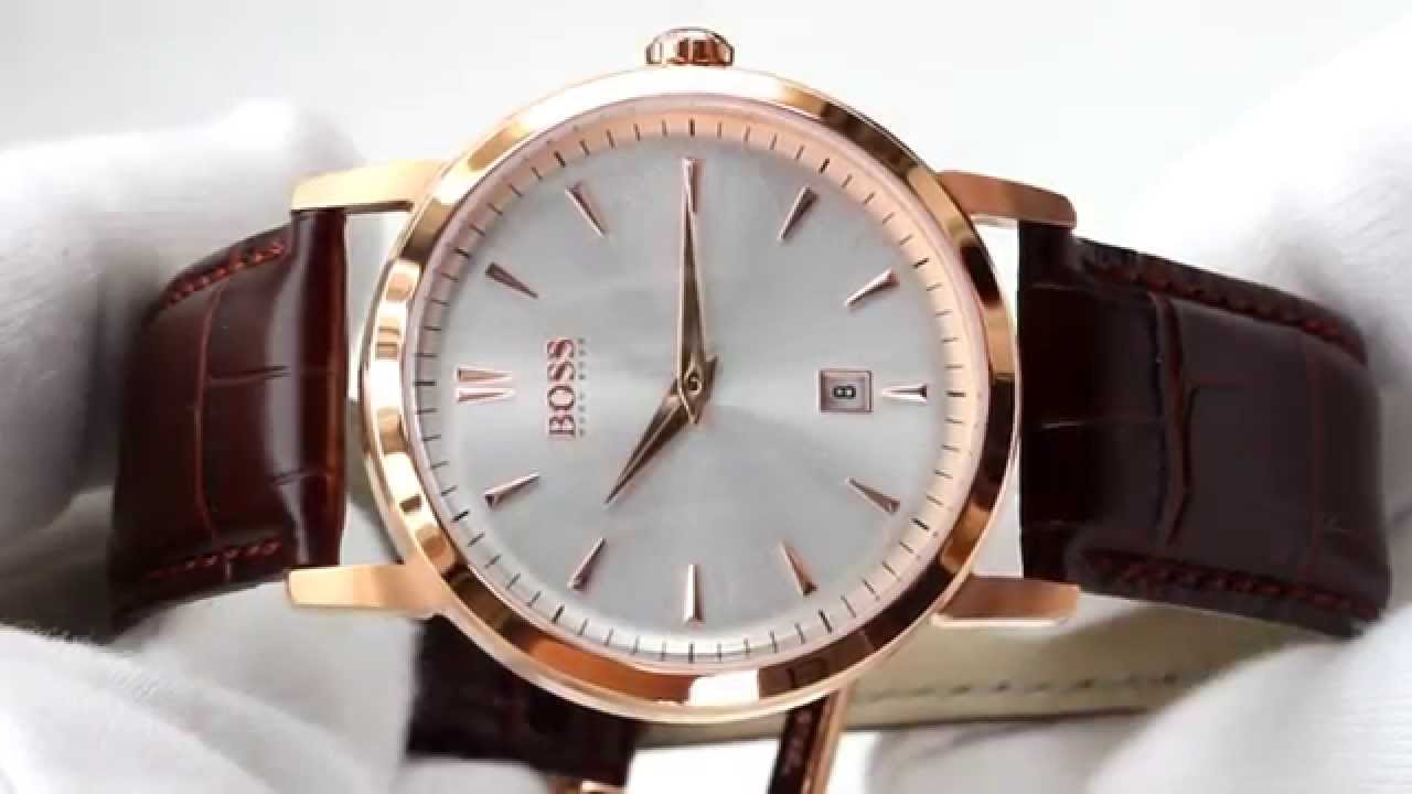 Hands On With The Men S Hugo Boss Rose Gold Plated 1512634 Youtube