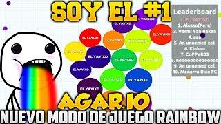AGAR.IO SOY EL NUMERO 1!!! NUEVO MODO DE JUEGO AGARIO RAINBOW JUEGO RANDOM SUPER ADICTIVO AGARIO