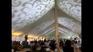Outdoor Tent Wedding Lighting: Sunset theme by Duluth Event Lighting
