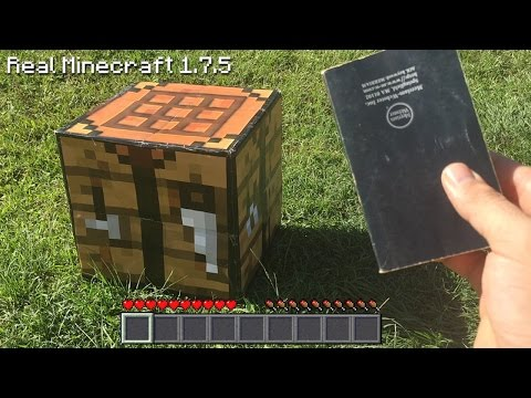 Real Life Minecraft - HOW TO MAKE A BOOK