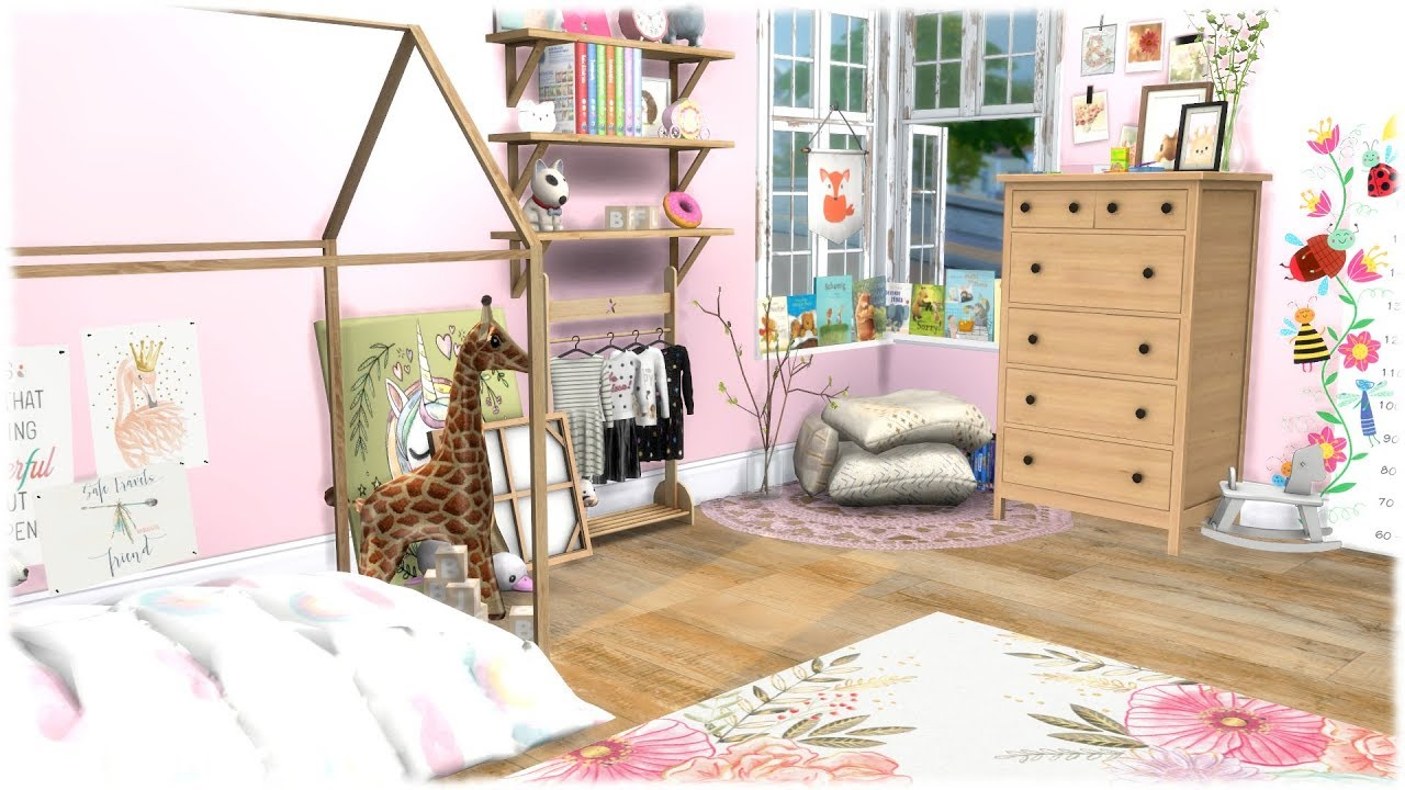 The Sims 4 Sd Build Pink Toddler Bedroom Cc Links