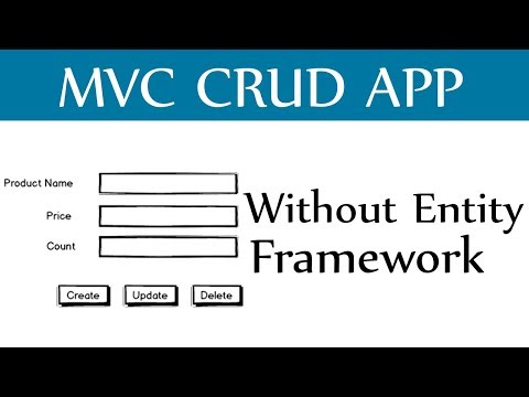 Asp.Net MVC CRUD Without Entity Framework - Create,Update,Delete and View