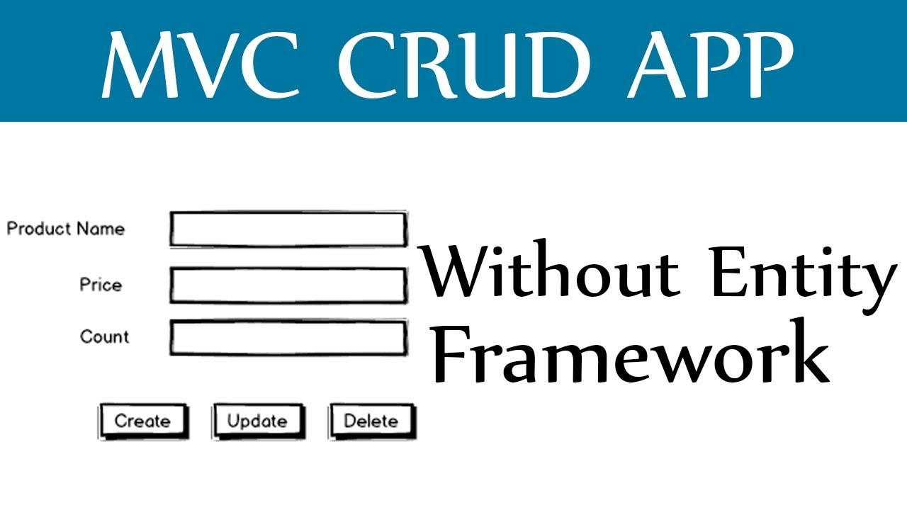 Asp Net MVC CRUD Without Entity Framework - Create,Update,Delete and View