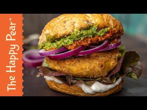 Vegan Chicken Burger | The Happy Pear | #fakeaway