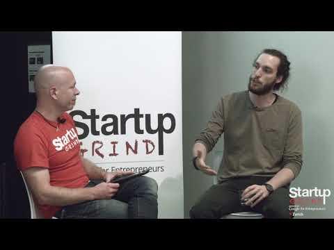 Laurent Decrue (Movu) at Startup Grind Zurich w/ David Butler